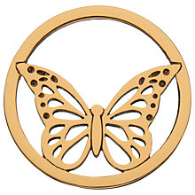 Buy Daisy Rose Gold Vermeil Butterfly Pendant Coin, Rose Gold Online at johnlewis.com