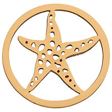Buy Daisy Rose Gold Vermeil Starfish Pendant Coin, Rose Gold Online at johnlewis.com