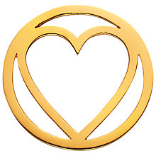 Buy Daisy Gold Vermeil Single Heart Pendant Coin, Gold Online at johnlewis.com