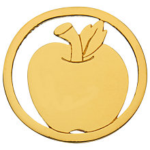 Buy Daisy Gold Vermeil Apple Pendant Coin, Gold Online at johnlewis.com