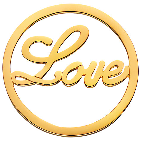 Buy Daisy Gold Vermeil Love Coin, Gold Online at johnlewis.com