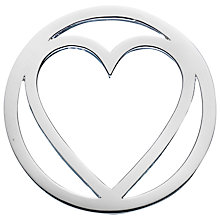 Buy Daisy Sterling Silver Single Heart Pendant Coin, Silver Online at johnlewis.com