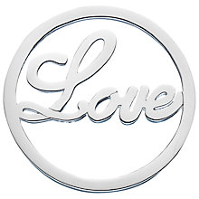 Buy Daisy Sterling Silver Love Pendant Coin, Silver Online at johnlewis.com