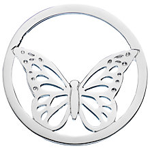 Buy Daisy Sterling Single Butterfly Pendant Coin, Silver Online at johnlewis.com