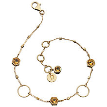 Buy Daisy Citrine and Gold Vermeil Circle Bracelet, Gold Online at johnlewis.com