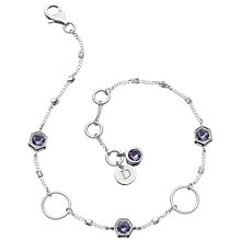 Buy Daisy Amethyst and Sterling Silver Circle Bracelet, Silver Online at johnlewis.com