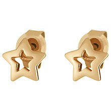 Buy Daisy Small Gold Plated Star Studs, Gold Online at johnlewis.com