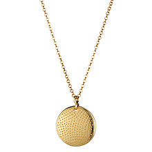 Buy Daisy Gold Plated Disc Pendant, Gold Online at johnlewis.com