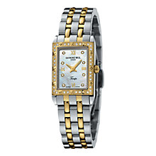 Buy Raymond Weil 5971-SPS-00995 Tango Women's Two Tone Rectangular Diamond Watch Online at johnlewis.com