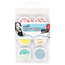 Buy Docrafts Papermania Happy Days Bottled Decorative Toppers, Cherry Pie, Pack of 6 Online at johnlewis.com