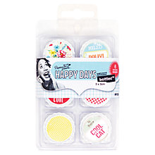 Buy Docrafts Papermania Happy Days Bottled Decorative Toppers, Hello Dolly, Pack of 6 Online at johnlewis.com