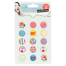 Buy Docrafts Papermania Happy Days Embroidered Brads, Pack of 15 Online at johnlewis.com