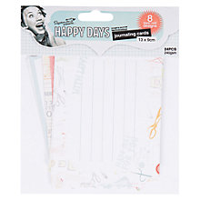 Buy Docrafts Papermania Happy Days Journaling Cards, Pack of 24 Online at johnlewis.com