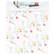 "Buy Docrafts Papermania Happy Days Fabric Paper, Haberdashery, 12x12"" Online at johnlewis.com"