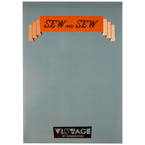 Buy Vintage by Hemingway Greta Notepad, A5 Online at johnlewis.com