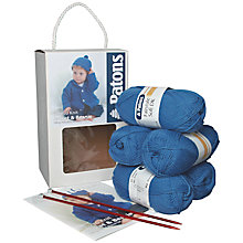 Buy Patons Easy to Knit Jacket and Beanie Kit, Blue Online at johnlewis.com