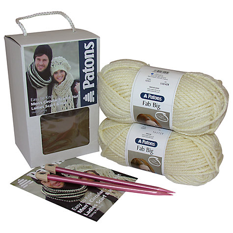 Buy Patons Scarf and Hat Knitting Kit Online at johnlewis.com