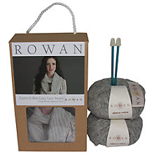 Buy Rowan Lazy Lace Snood Knitting Kit, Raindrop Online at johnlewis.com