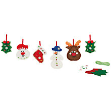 Buy John Lewis Make Your Own Felt Christmas Garland Kit Online at johnlewis.com
