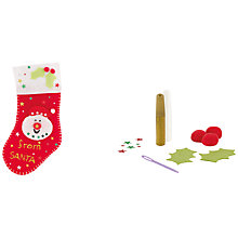Buy John Lewis Make Your Own Christmas Stocking Kit Online at johnlewis.com