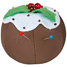 Buy John Lewis Christmas Pin Cushion, Pudding Online at johnlewis.com