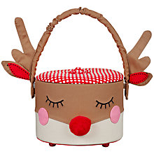 Buy John Lewis Christmas Sewing Basket, Round Online at johnlewis.com