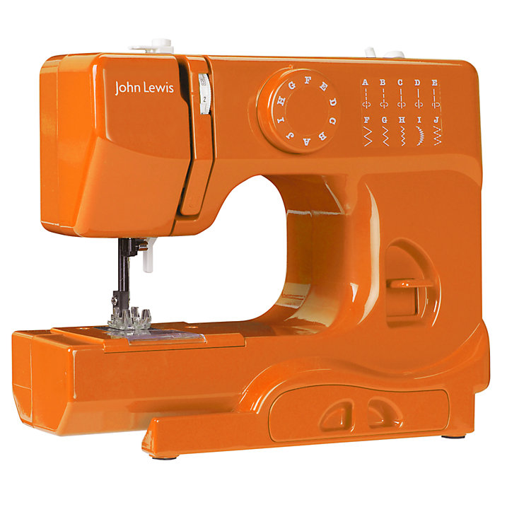 Buy JL Mini Sewing Machine, Orange Online at johnlewis.com