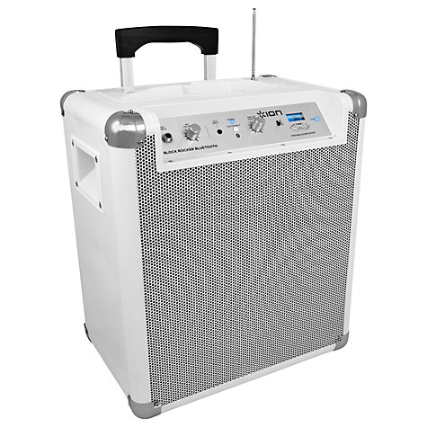 Buy ION Block Rocker AM/FM Wireless Speaker System/iPod Dock/Amplifier, White Online at johnlewis.com