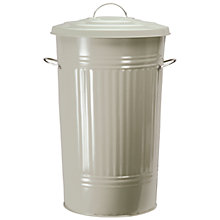 Buy Garden Trading Kitchen Bin, Galvanised Steel, 46L, Clay Online at johnlewis.com