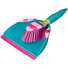 Buy John Lewis Grid Stripe Dustpan and Brush Online at johnlewis.com