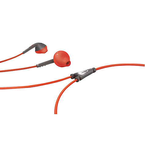 Buy Philips SHQ1200/10 In-Ear Headphones, Red/Grey Online at johnlewis.com