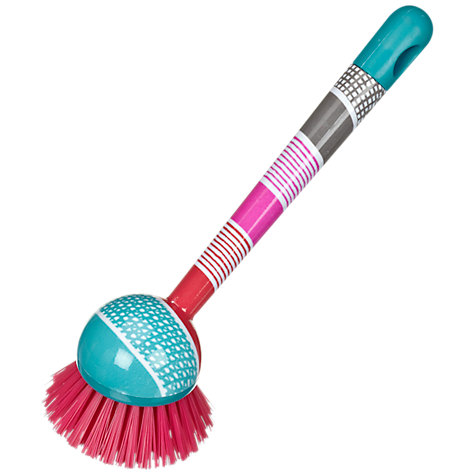Buy John Lewis Grid Stripe Dish Brush, Multi Online at johnlewis.com