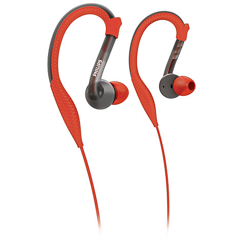 Buy Philips SHQ3200/10 Around-Ear Headphones, Red/Grey Online at johnlewis.com