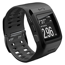 Buy Nike+ SportWatch Powered by TomTom GPS with Shoe Sensor, Black/Black Online at johnlewis.com
