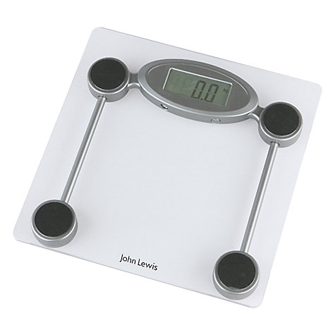 Buy John Lewis Glass Digital Bathroom Scale, Clear Online at johnlewis.com