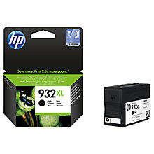 Buy HP 932XL Ink Cartridge, Black, CN053AE Online at johnlewis.com