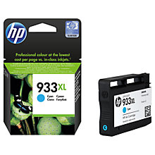 Buy HP 933XL Ink Cartridge, Cyan, CN054AE Online at johnlewis.com