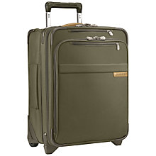 Buy Briggs & Riley Baseline Commuter 2-Wheel 48.3cm Cabin Suitcase, Olive Online at johnlewis.com