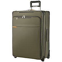Buy Briggs & Riley 2-Wheel Large Expandable Upright Suitcase, Olive Online at johnlewis.com