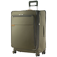 Buy Briggs & Riley Expandable 4-Wheel Large Spinner Suitcase, Olive Online at johnlewis.com