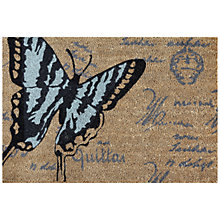 Buy John Lewis Butterflies Coir Doormat, Blue, L75 x W50cm Online at johnlewis.com