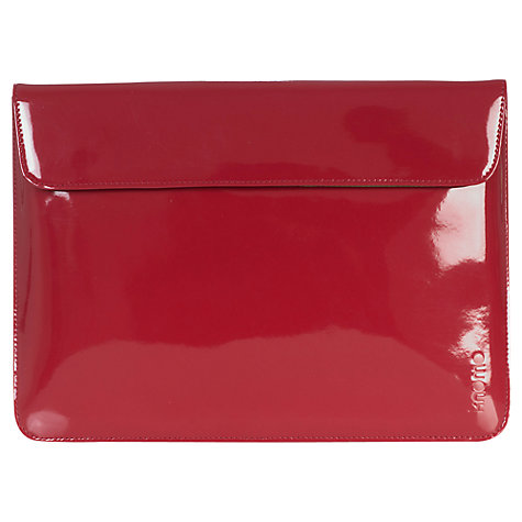 "Buy Knomo 13"" Leather Envolope Sleeve for MacBook Air, Red Online at johnlewis.com"