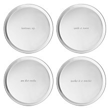 Buy kate spade new york Silver Street Coasters, Set of 4 Online at johnlewis.com