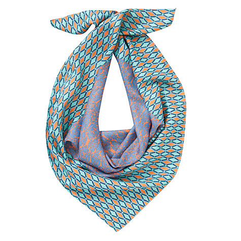 Buy COLLECTION by John Lewis Aztec Border Silk Square Scarf, Multi Online at johnlewis.com