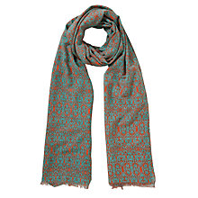 Buy COLLECTION by John Lewis Ornate Floral Silk-Cotton Scarf, Multi Online at johnlewis.com