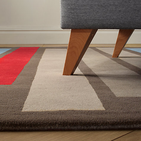 Buy Christopher Farr for John Lewis Petra Rug, Grey/Blue Online at johnlewis.com