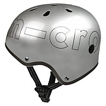 Buy Micro Scooters Metallic Helmet, Large, Grey Online at johnlewis.com
