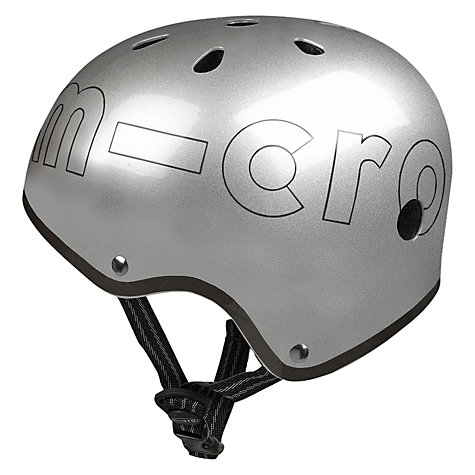 Buy Micro Scooters Safety Helmet, Metallic Silver, Small Online at johnlewis.com
