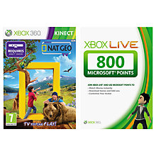 Buy Kinect: Nat Geo TV, Xbox 360 with 800 Live Points Online at johnlewis.com