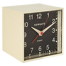 Buy Newgate Cubic Alarm Clock, Cream Online at johnlewis.com